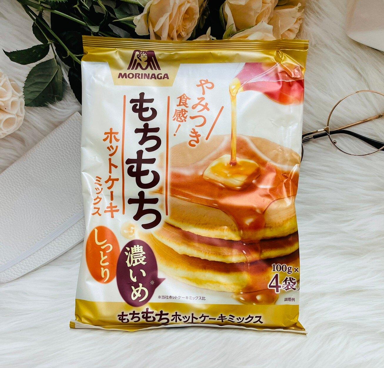 日本 森永製果 MORINAGA QQ鬆餅粉 400g (100g*4袋)