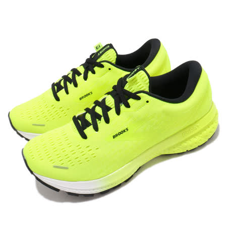 Brooks 慢跑鞋 Ghost 13 運動 女鞋 路跑 緩震 DNA科技 透氣 健身 球鞋 黃 黑 1203381B774 1203381B774