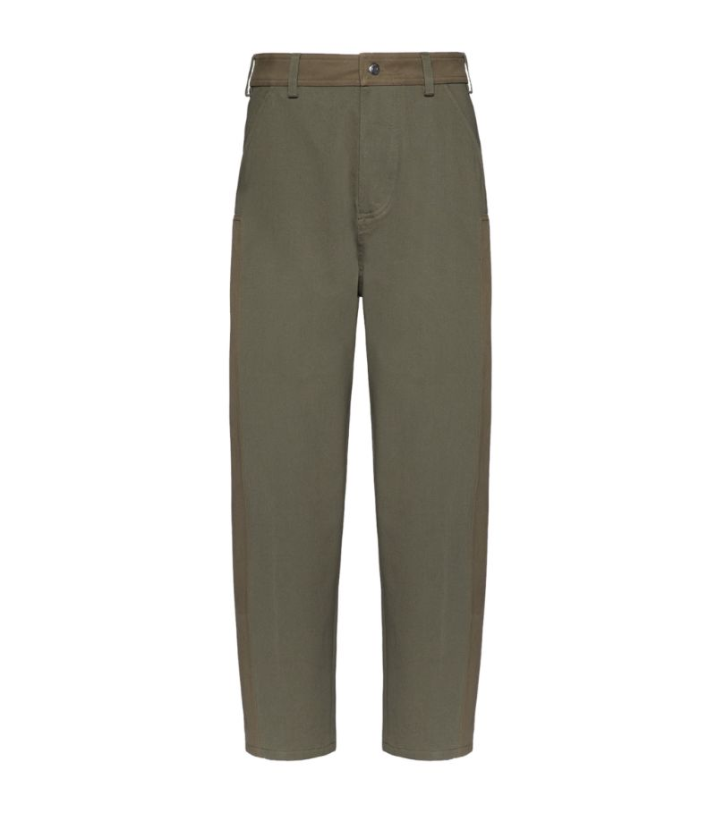 Valentino Cotton Contrast-Panel Trousers