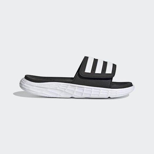 Adidas Duramo Sl Slide [FY8786] 男女鞋 拖鞋 涼鞋 運動 休閒 游泳 舒適 穿搭 黑 白