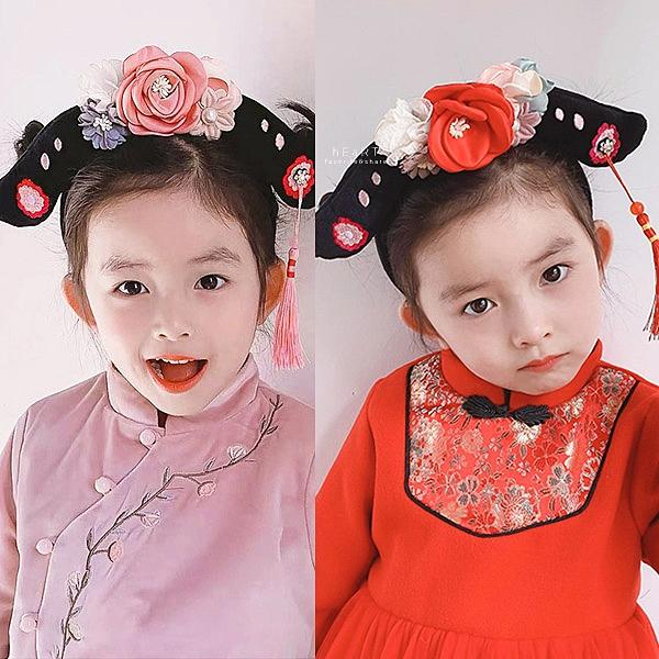 新年大花造型格格髮箍 髮箍 髮飾 兒童髮飾 新年髮飾
