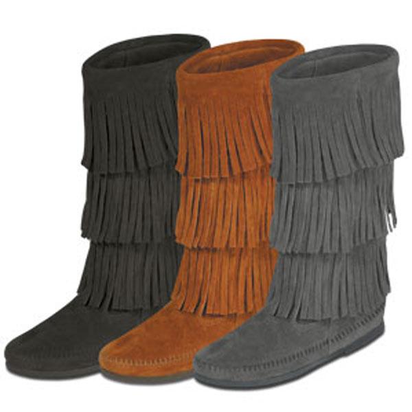 Minnetonka 3-Layer Fringe Boot - Womens Boots