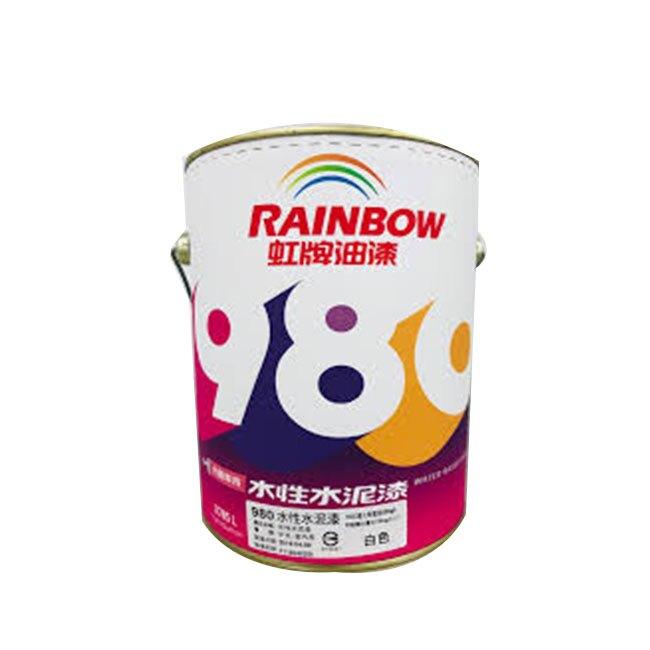 虹牌980水性水泥漆 5加侖 (18公升)  【漆太郎】