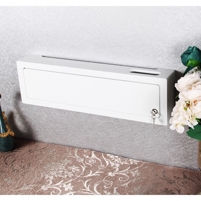 簡單日子插座遮擋路由器收納盒簡約插線板電線盒帶鎖防觸電開門
