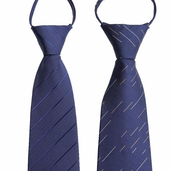領帶 拉鏈式領帶男商務正裝懶人易拉得結婚新郎紅西裝職業黑色男士免打【快速出貨八折下殺】