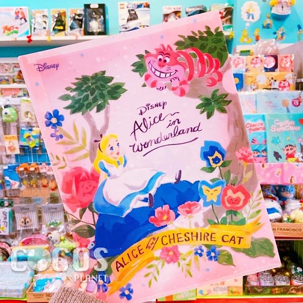 正版 新款 迪士尼系列 愛麗絲夢遊仙境 愛麗絲 妙妙貓 LU型文件夾 收納夾 COCOS QQ049