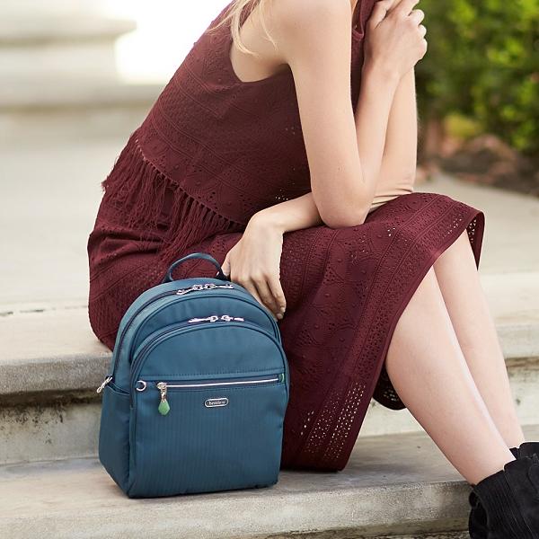 BESIDE U BERT 防盜刷安全口哨多變化防盜扣側背包後背包 – 綠色 原廠公司貨