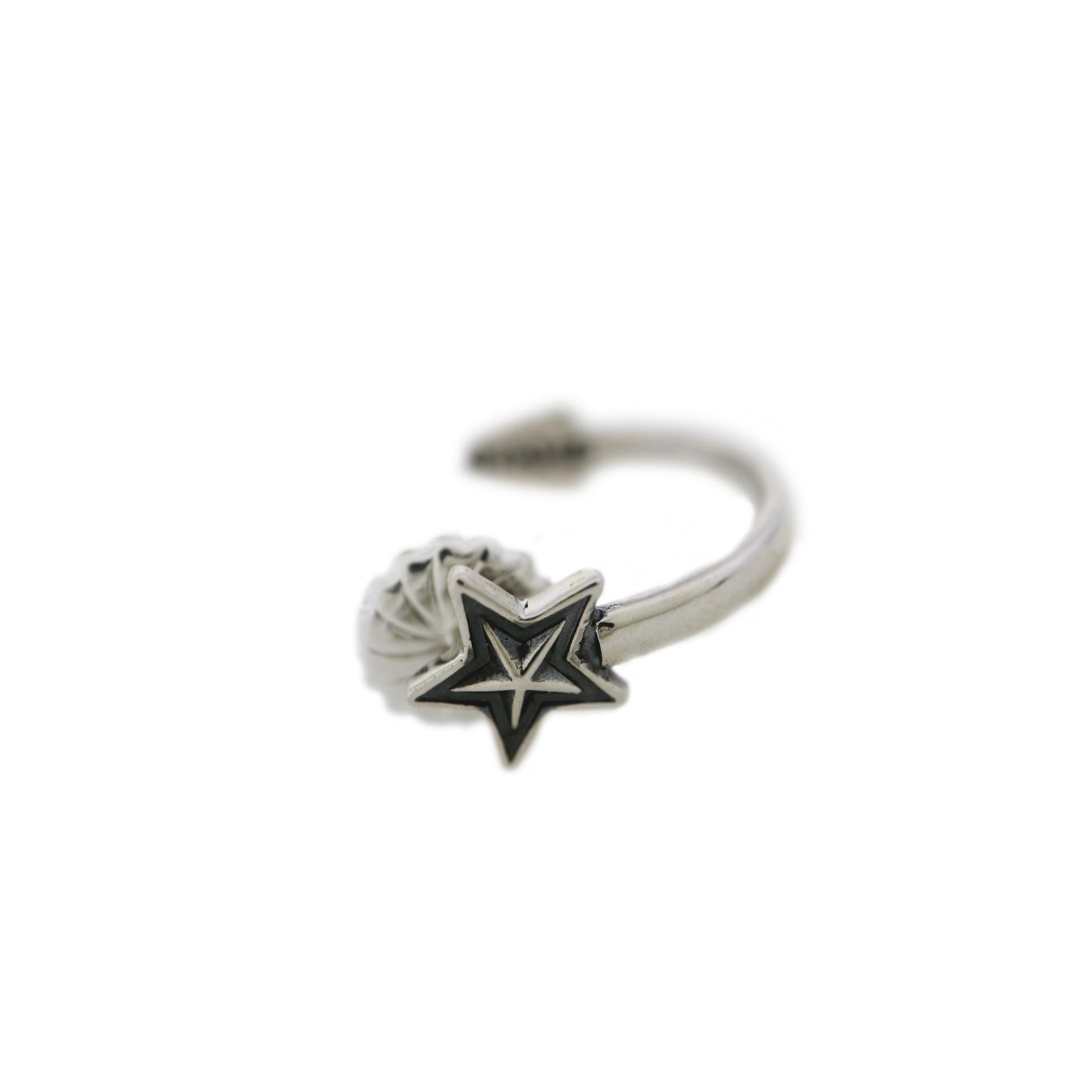 ARROW STAR CURVED EARRING  [USD $370]