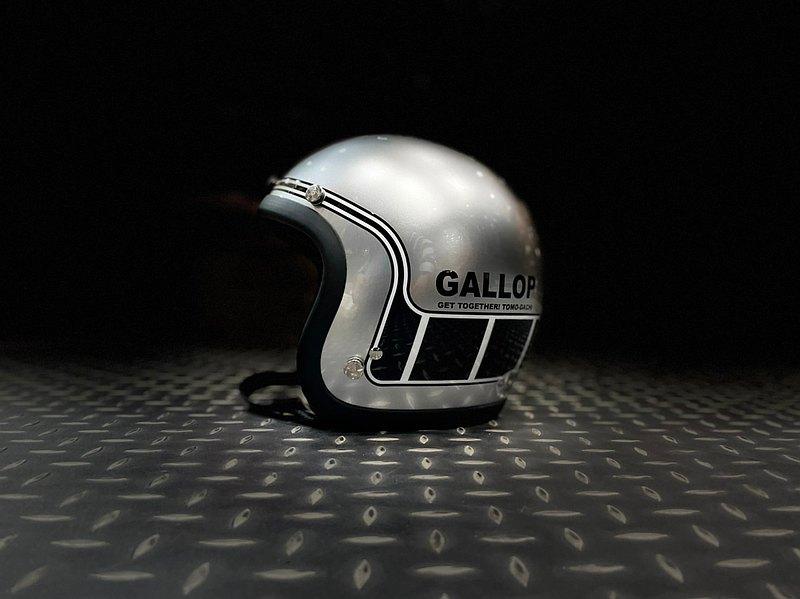 Gallop 3/4復古安全帽 #4-MACH/馬赫 銀色