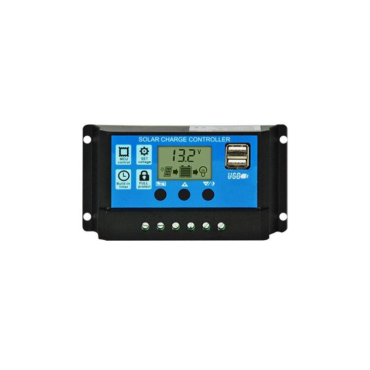 太陽能控制器12V 24V光伏電池板充電器10A 20A 30A 全自動 通用型