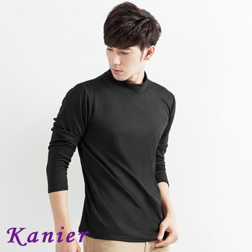 【卡妮兒】簡約男素面高領保暖衣(M-XL)