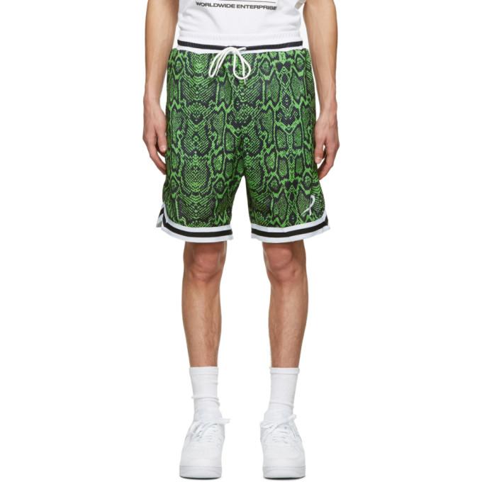 Psychworld 绿色 Snake 网眼短裤