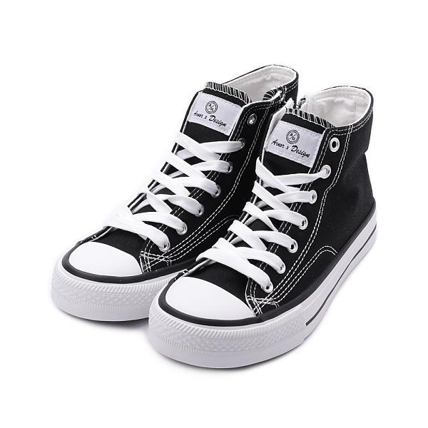ARNOR 經典高筒帆布鞋 黑 ARWC12360 女鞋