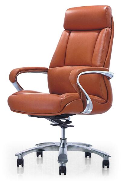 637-2大型主管椅 / 辦公椅-懸背-烤銀腳