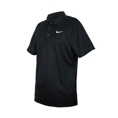 (男) NIKE 短袖POLO衫-運動 休閒 上衣 高爾夫 網球 DRI-FIT 黑白