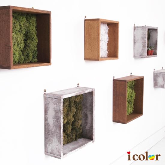手作.手工藝 木製單格陳列盒/收納置物盒