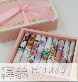 【618購物狂歡節】手帕月牙邊女士花邊純棉方巾全棉手絹吸汗節日禮物禮盒裝