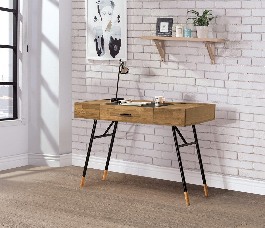 【尚品傢俱】HY-B504-05 庫克集成柚木4尺書桌