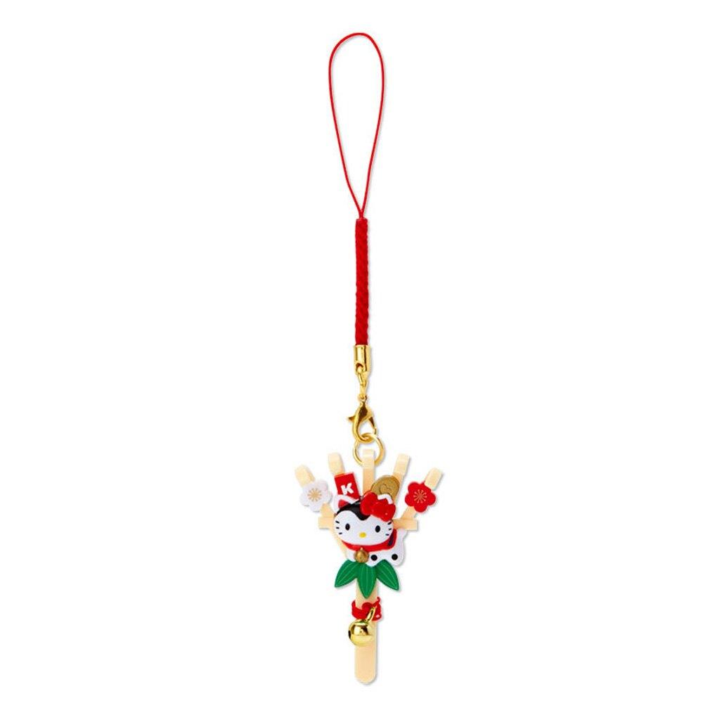 Hello Kitty熊手造型塑膠吊飾/新年吊飾/祈福吊飾/玩偶鑰匙圈