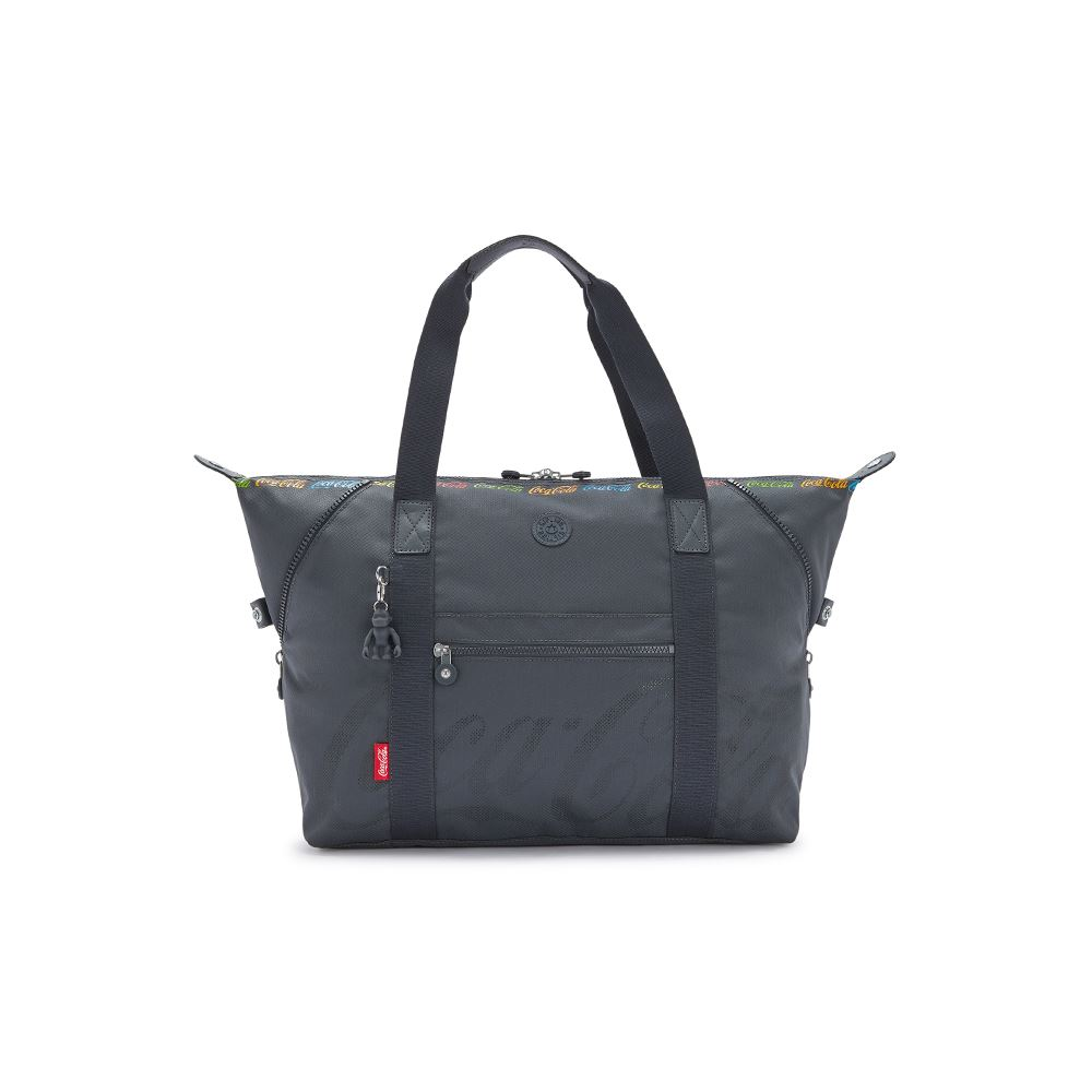 Kipling | Coca-Cola 聯名款創意LOGO印花手提側背包-ART M