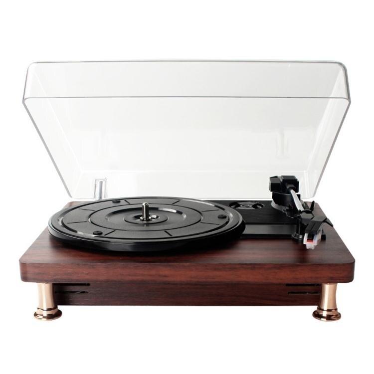 現貨 歐式黑膠唱片機客廳書房黑膠唱片機藍牙音箱現代留聲機心選禮物