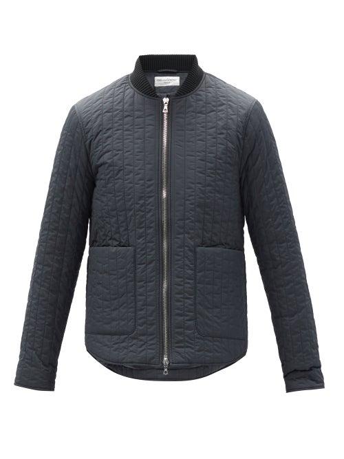 Officine Générale - Bastian Quilted-shell Jacket - Mens - Grey