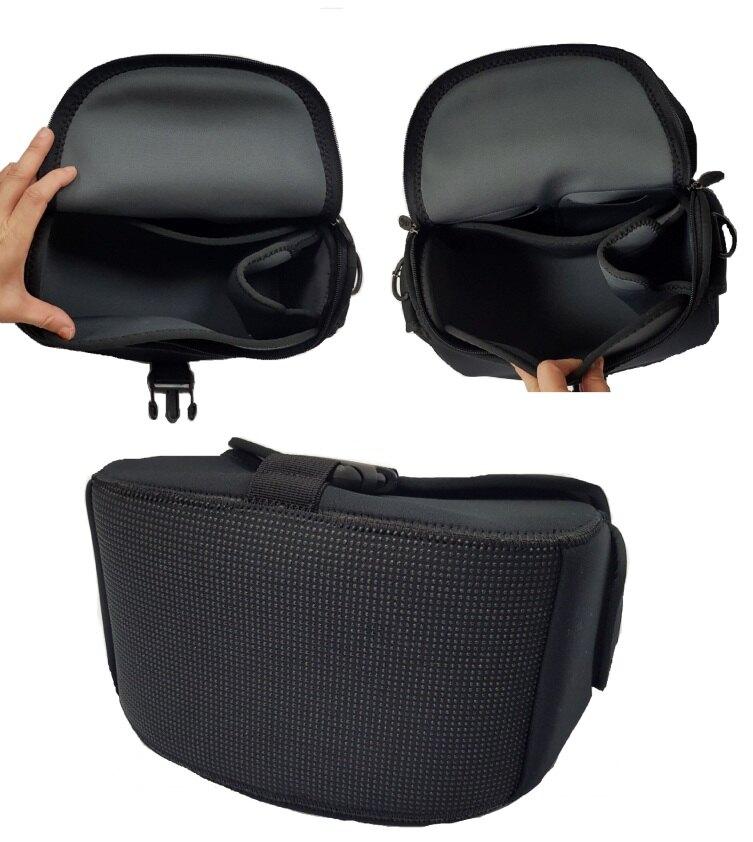 限時 滿3千賺10%點數↘ | ~雪黛屋~OBIEN 相機包小容量單眼相機包U型大開口潛水料進口完全防水耐震尼龍布內多層台灣製造SOBBGCAM100