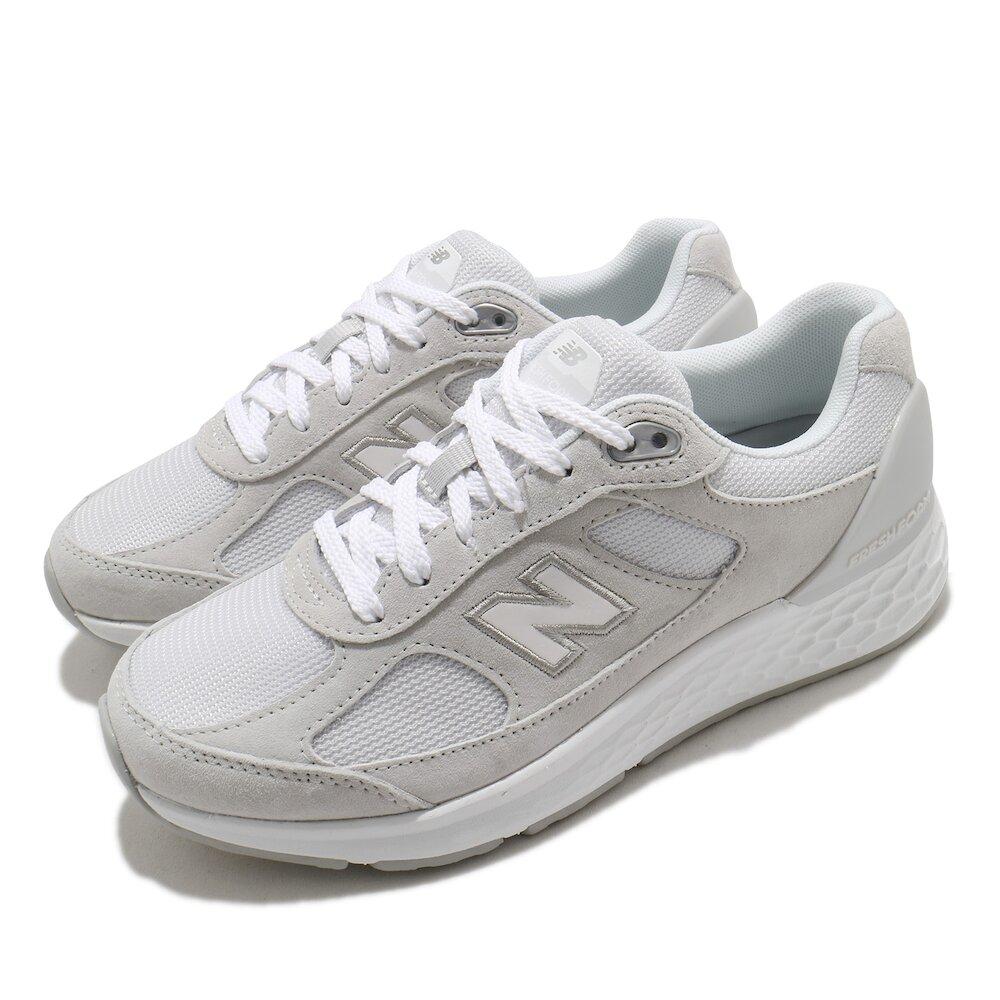 NEW BALANCE 休閒鞋 1880 Wide 寬楦 運動 女鞋 紐巴倫 基本款 舒適 簡約 麂皮 穿搭 灰 白 [WW1880S1D]