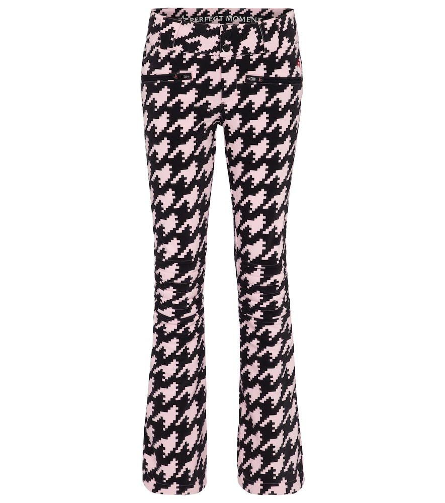 Exclusive to Mytheresa - Aurora houndstooth flared ski pants