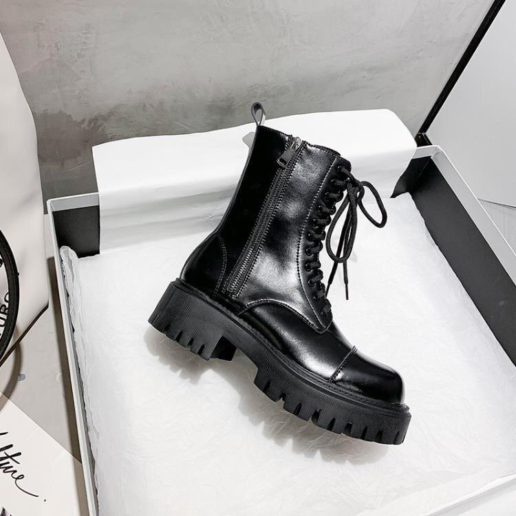 馬丁靴女2020年新款英倫風厚底冬加絨潮ins機車短靴子秋鞋子百搭