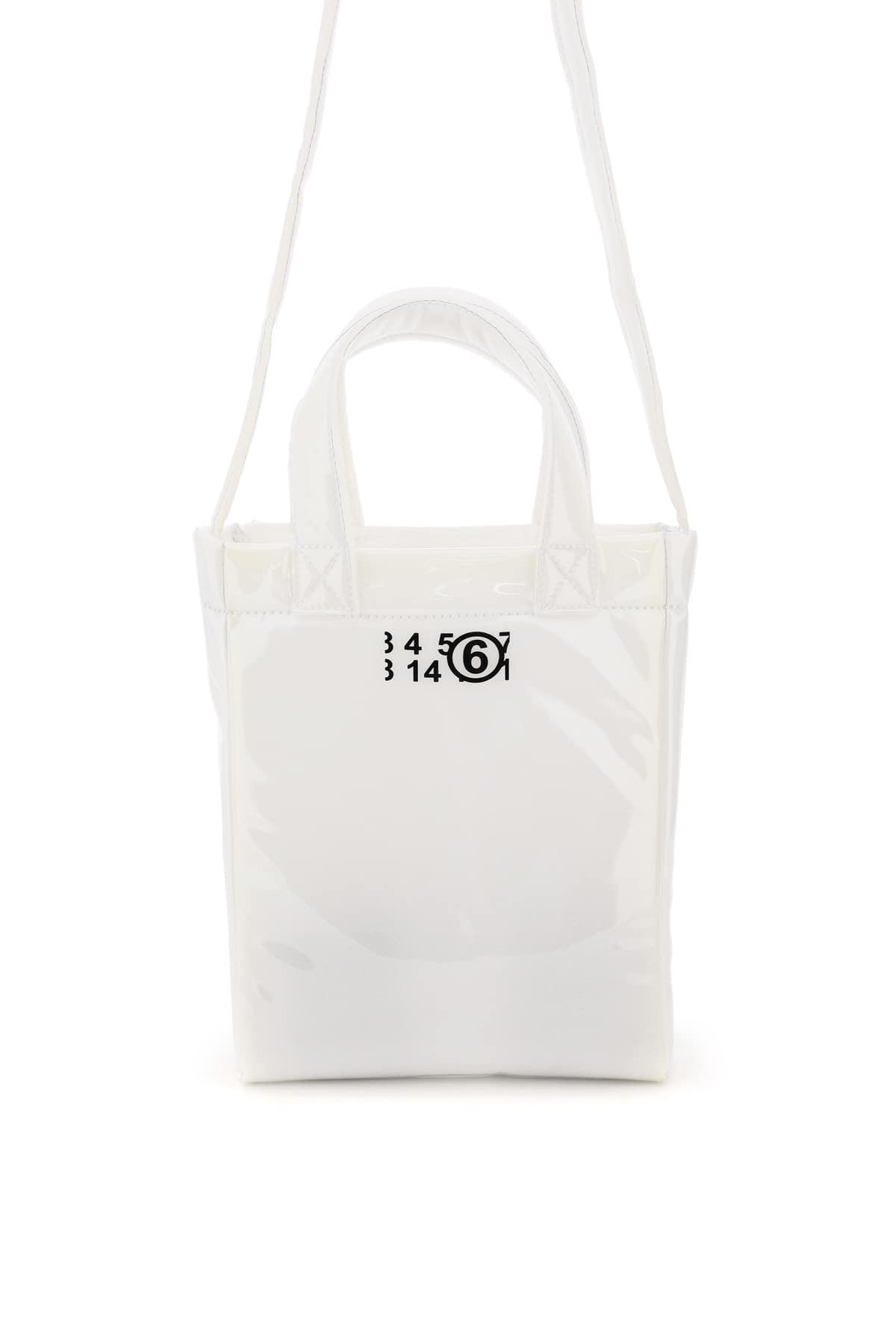 MM6 MAISON MARGIELA PVC FOAM MINI TOTE BAG OS White