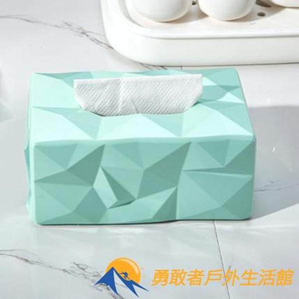 紙巾盒鉆石面餐廳家用抽紙盒創意個性紙巾盒【勇敢者】