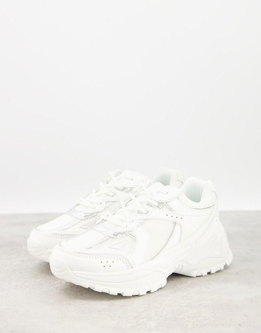 ASOS DESIGN Dorri trainers with mesh in white