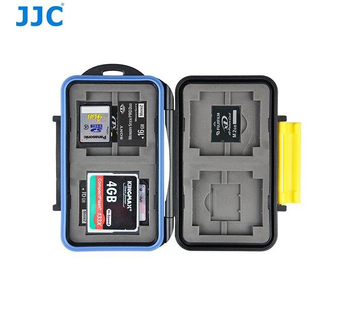 又敗家@JJC防撞防水記憶卡盒MC-3(可放4張CF卡.4張SD卡.4張XD卡和4張MSPD卡,共12張卡)記憶卡儲存盒 記憶卡收納盒記憶卡保存盒記憶卡保護盒SDXC Memory Stick PRO