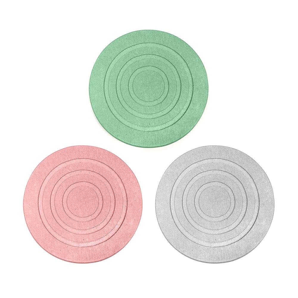 超吸水天然珪藻土杯墊、皂台(圓圈造型)