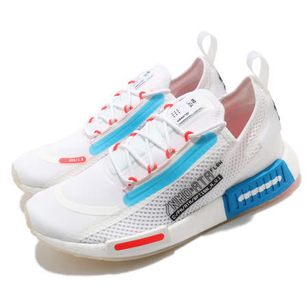 adidas 休閒鞋 NMD R1 Spectoo 襪套式 男鞋 愛迪達 三葉草 運動休閒 Boost 緩震 白 藍 FZ3629 FZ3629