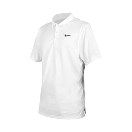 (男) NIKE 短袖POLO衫-運動 休閒 上衣 高爾夫 網球 DRI-FIT 白黑