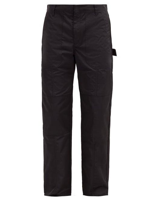 Deveaux - Gus Nylon-twill Straight-leg Trousers - Mens - Black