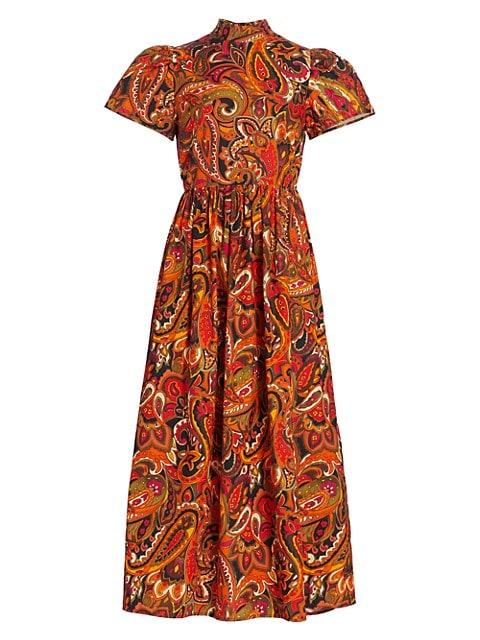 Heidi Paisley Midi Dress