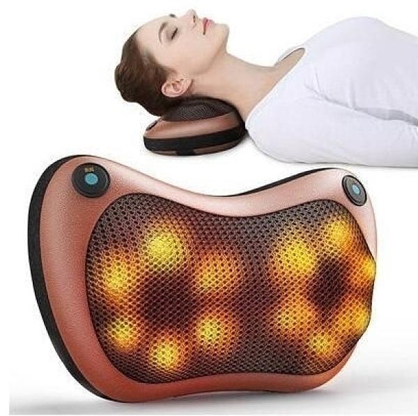 多功能按摩枕 肩頸按摩 腳底按摩 腰椎按摩 按摩枕頭 按摩枕 充電款 車/家多用 現貨
