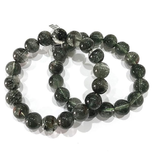 『晶鑽水晶』天然千層綠幽靈 特級手鍊 約11.5mm 圓珠 超翠綠 淨度高 招財 招貴人 禮物 附禮盒