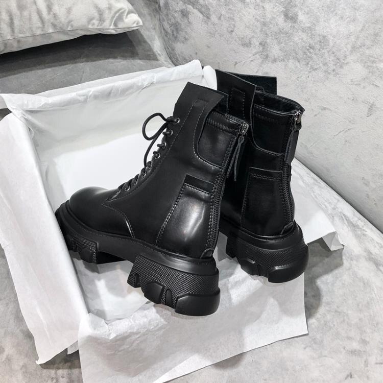 靴子馬丁靴2020年新款女潮ins短靴顯腳小英倫風厚底春秋單靴