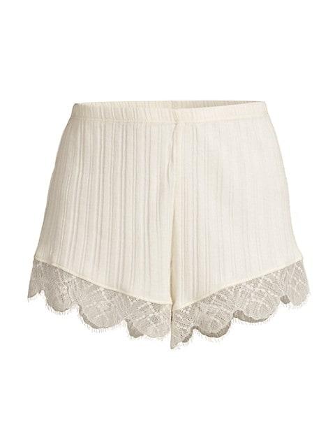 Betsey Lace-Trim Shorts