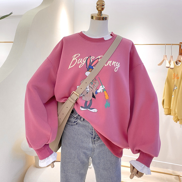 9th street假兩件式波妞女孩印圖上衣(預購)(共兩色)