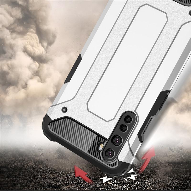 OnePlus Nord的OnePlus Nord防震保護套矽膠鎧裝橡膠保護性手機保險槓