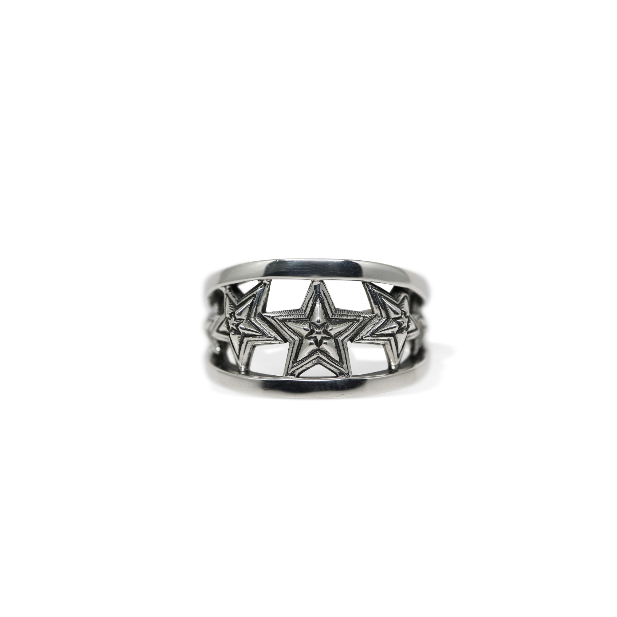 5 STAR IN STAR CUT OUT RING [USD $530]