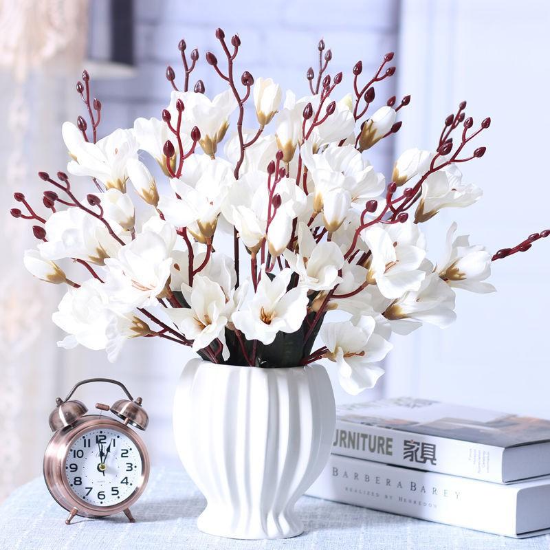 【出貨+滿額免運】假花仿真花客廳臥室餐桌擺設玫瑰干花束盆栽擺件裝飾花藝塑料花