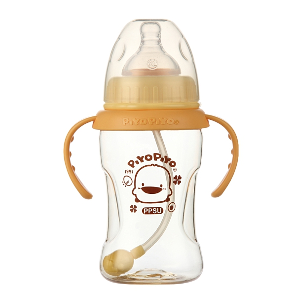 黃色小鴨旋轉360度寬口握把PPSU奶瓶 830582