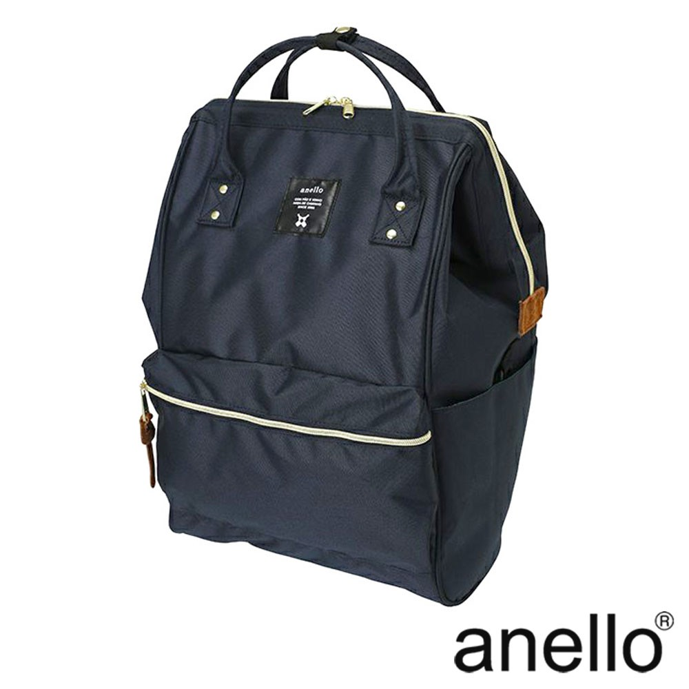 anello 經典口金後背包基本款 深藍 Large size (AT-B2521-NV)