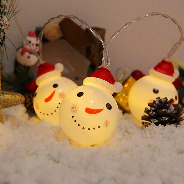 【BlueCat】聖誕節 聖誕老人雪人 LED 燈串 (3米20燈)  室內裝飾 聖誕 耶誕 聖誕樹 燈飾